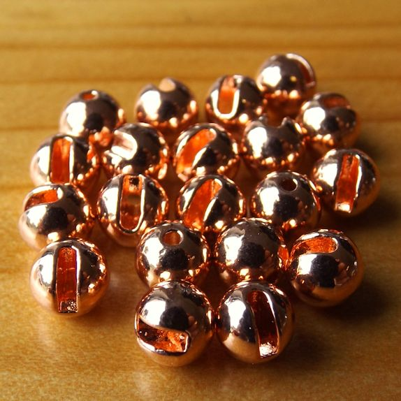 Slotted Tungsten Beads 4.5mm - Copper