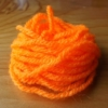 Fluorescent Wool - Fl Orange
