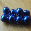 Bead Chain Eyes - Metallic Blue