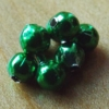 Bead Chain Eyes - Metallic Green