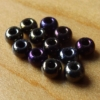 Glass Beads-Pearl-Black