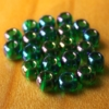 Glass Beads - Pearl Olive