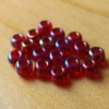 Glass Beads-Pearl-Red