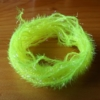Small Crystal Hackle UV - Fl Yellow