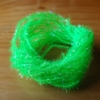 Small Crystal Hackle UV - Intense Lime