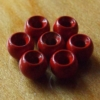 2.8mm Brass Hotheads Blood Red