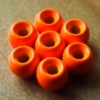 3.2mm Tungsten Hotheads - Fl Orange