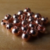 Slotted Tungsten Beads 3.5mm - Copper