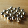 Slotted Tungsten Beads 3.5mm - Gold
