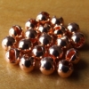 Slotted Tungsten Beads 3mm - Copper