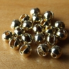 Slotted Tungsten Beads 3mm - Gold