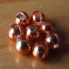 Slotted Tungsten Beads 3mm - Metallic Orange