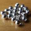 Slotted Tungsten Beads 3mm - Silver