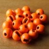 Slotted Tungsten Beads 3mm -Orange