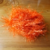 Large Shimmer Hackle - Fl Orange