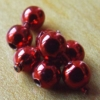 Bead Chain Eyes - Metallic Red