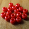 Glass Beads - Blood Red