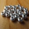 Glass Beads - Metallic Silver
