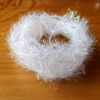 Pearl Crystal Hackle - White