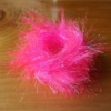 Large Crystal Hackle - Fl Pink