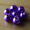 Slotted Tungsten Beads 3mm - Metallic Purple
