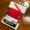 Gummy Chenille 6mm 125-Fluo Red